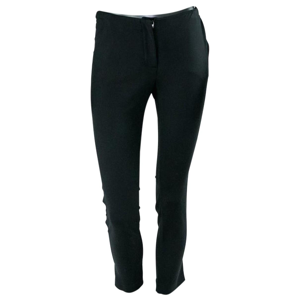 - Pantalon   pour femme en laine - noir