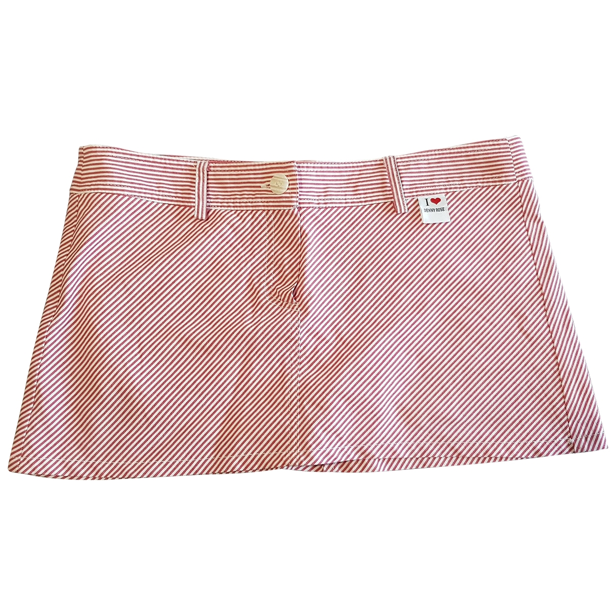 Non Signé / Unsigned \N Red Cotton - elasthane skirt for Women S International