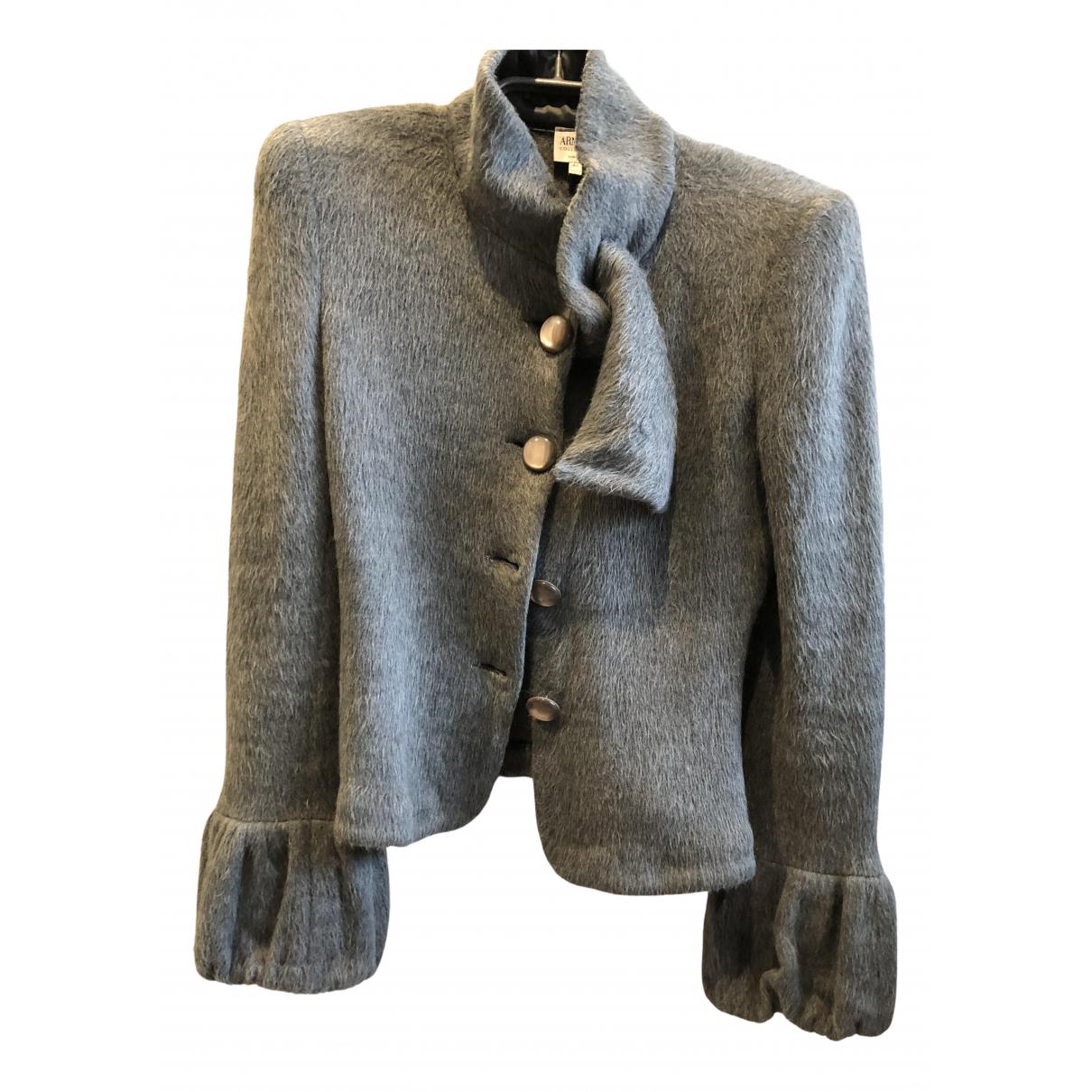 Armani Collezioni \N Jacke in  Grau Wolle
