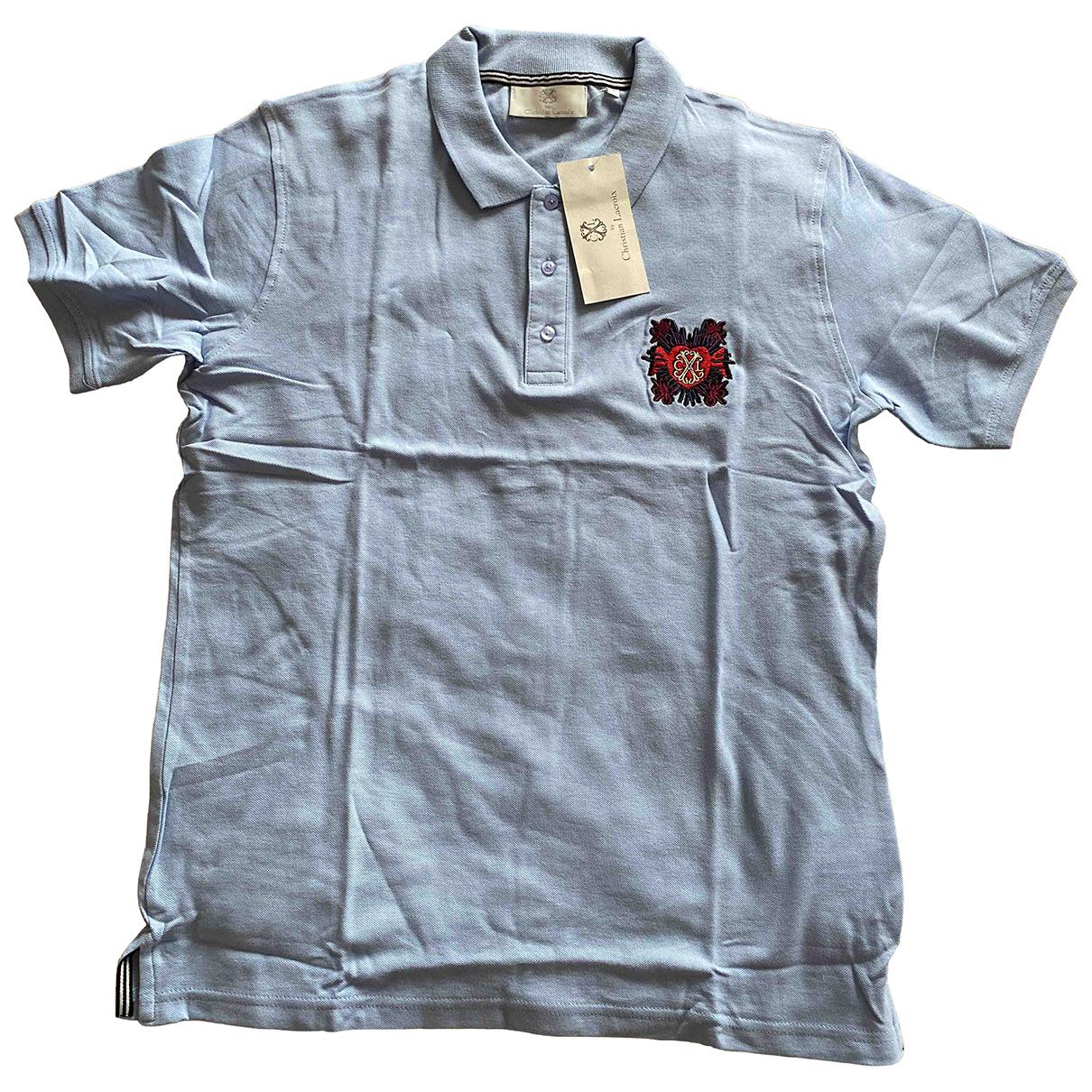 Christian Lacroix - Polos   pour homme en coton - bleu