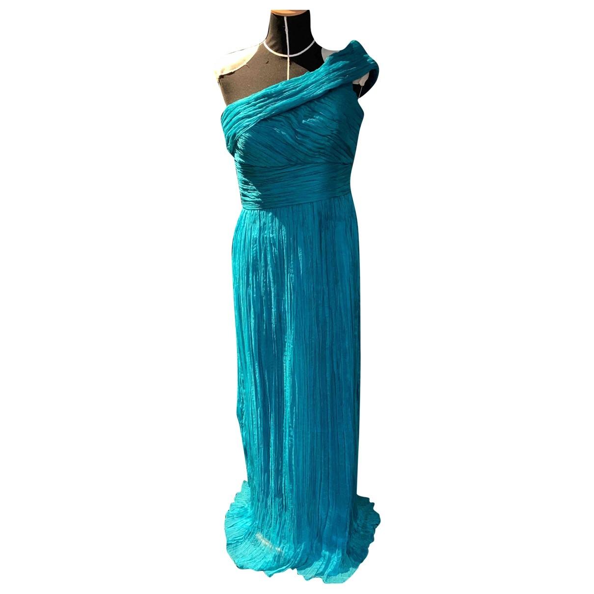Adolfo Dominguez - Robe   pour femme en soie - turquoise