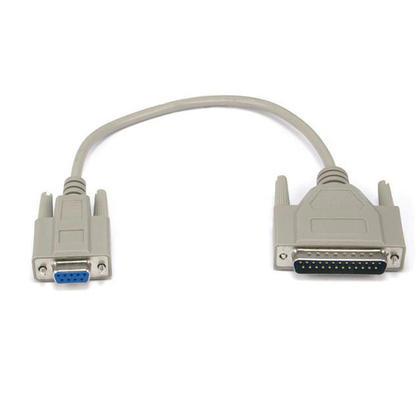 Câble AT Modem moulé DB9F/DB25M (6 longueurs disponibles) - 1Ft