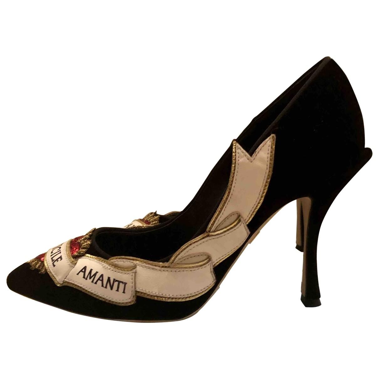 Dolce & Gabbana \N Black Velvet Heels for Women 36 EU