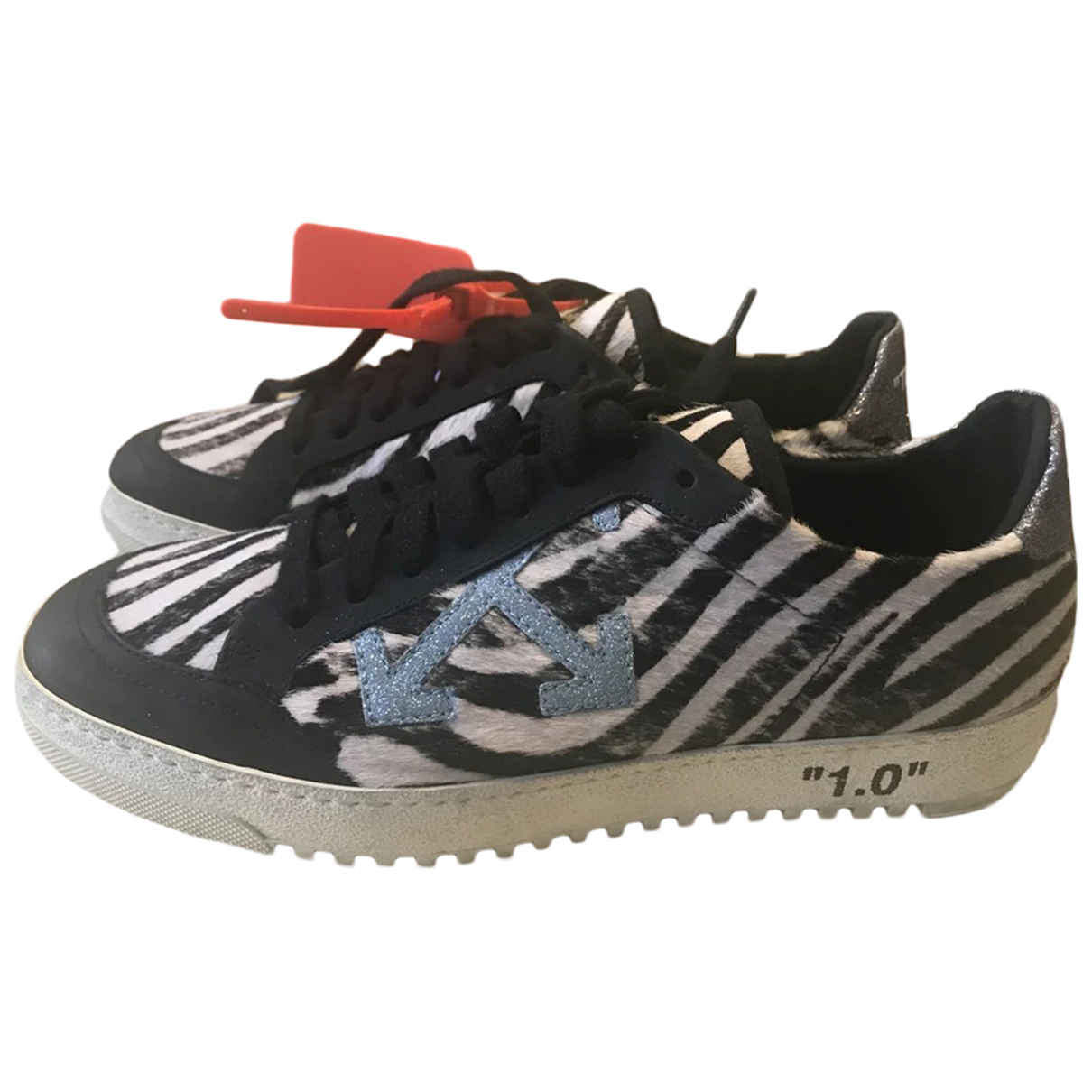 Off-white Low 2.0 Black Pony-style calfskin Trainers for Women 36 EU