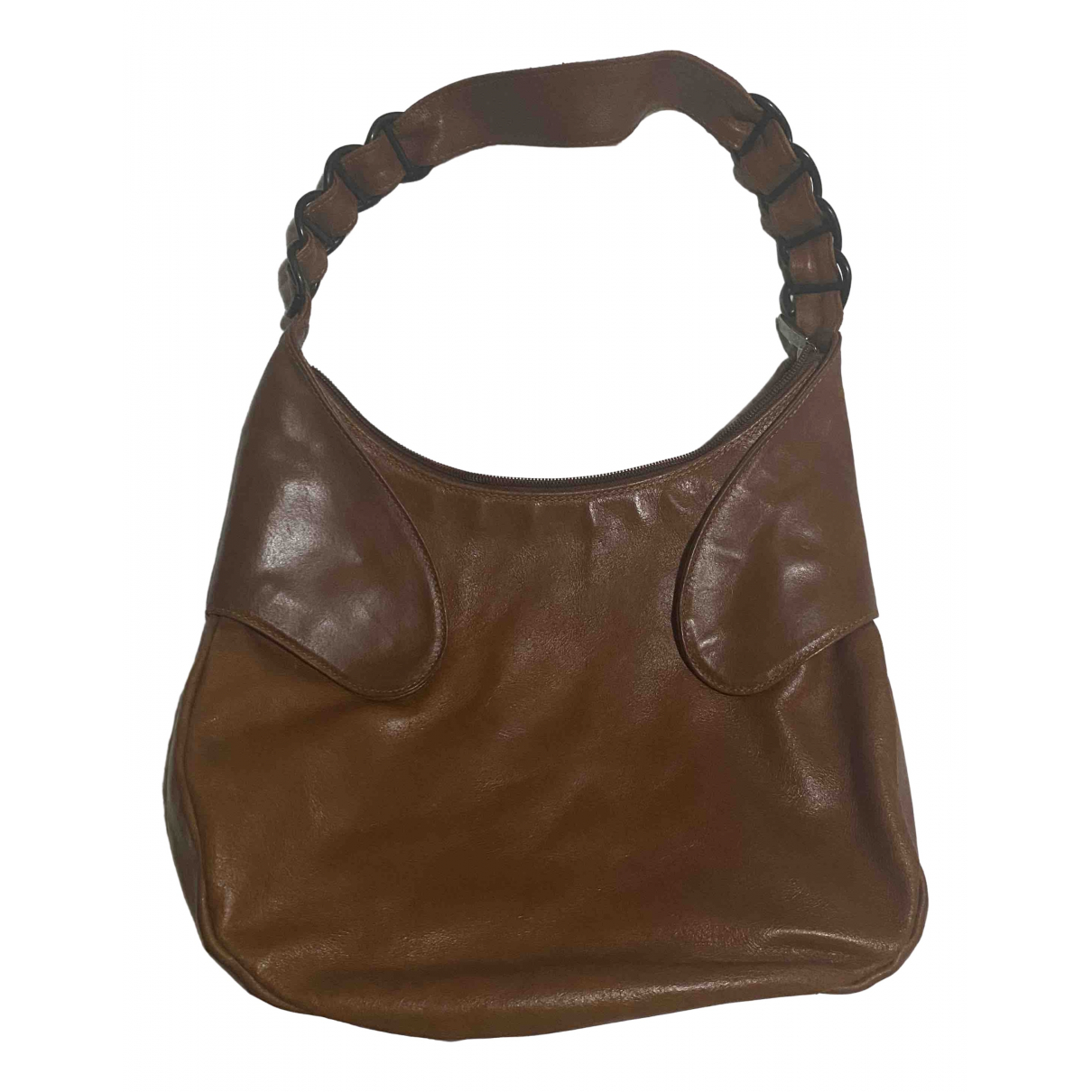 Non Signé / Unsigned Hippie Chic Camel Leather handbag for Women \N