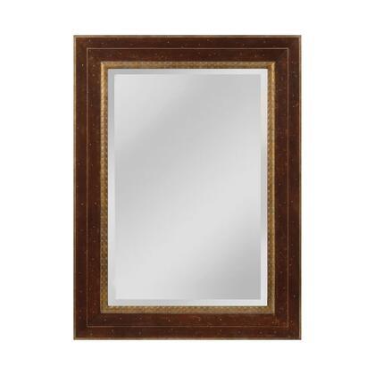 MW4053A-0036 Darcey Mirror in Walnut  Roman Gold