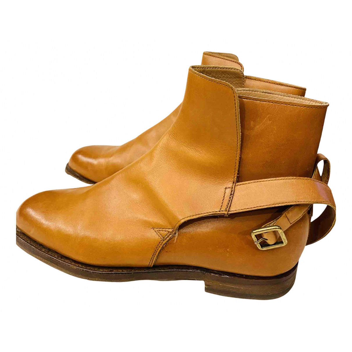 Crockett& Jones - Boots   pour femme en cuir - marron