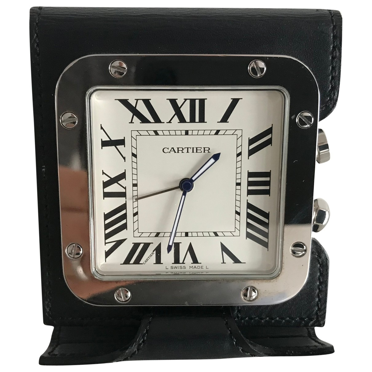 Cartier - Objets & Deco Horloge de voyage Santos pour lifestyle en cuir - noir