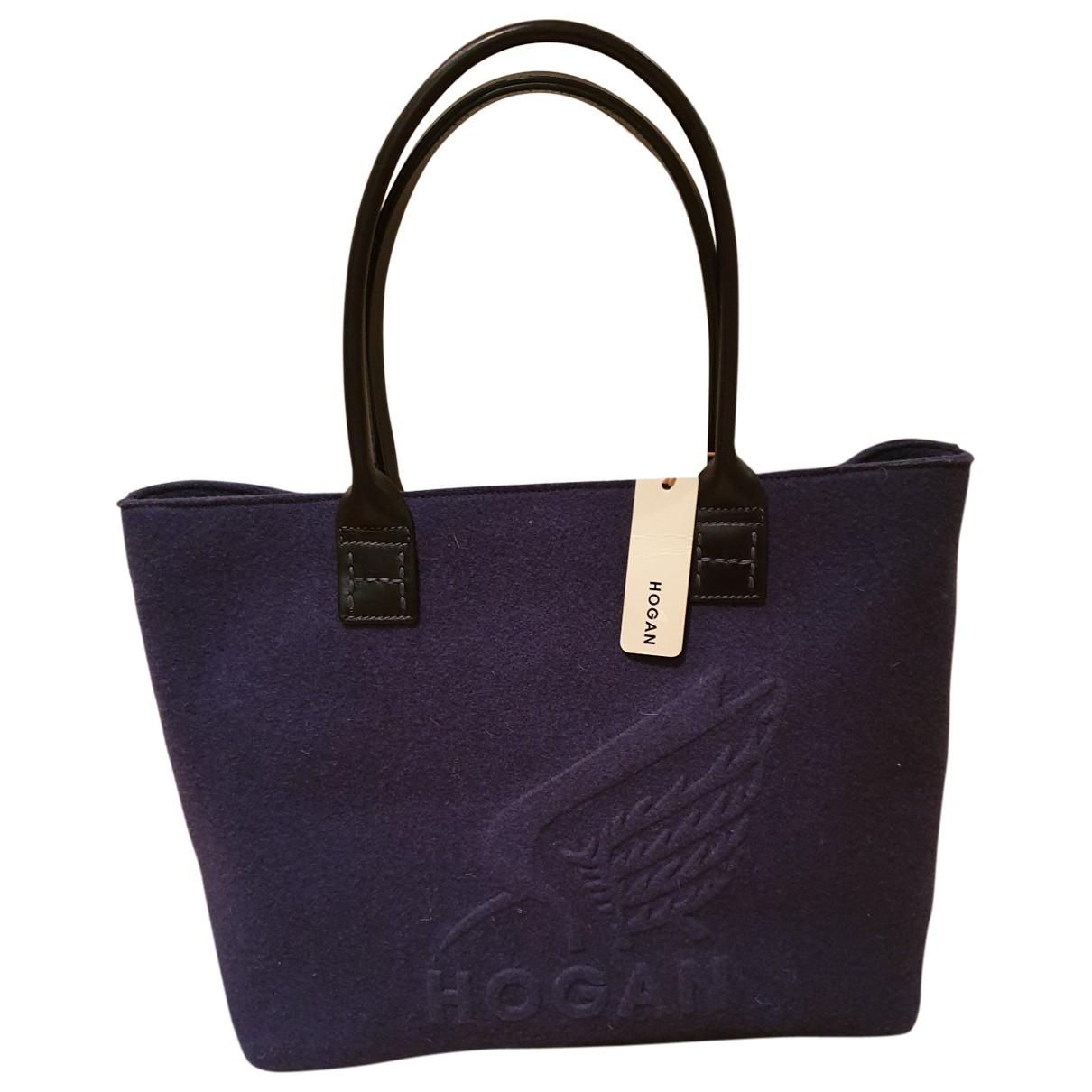 Hogan \N Handtasche in  Blau Wolle