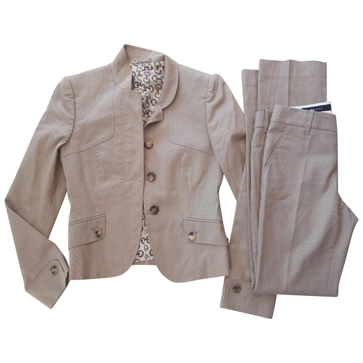 Gucci - Veste   pour femme en coton - beige