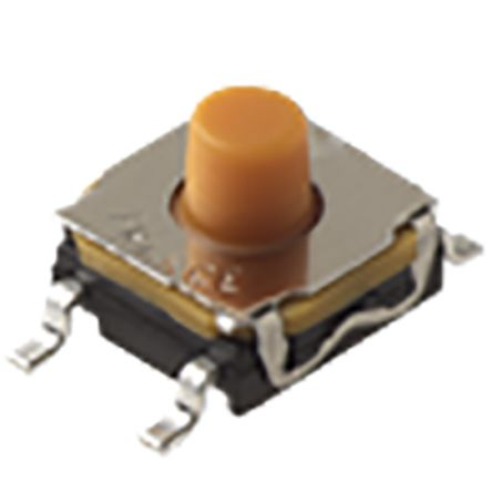 C & K IP67 Top Tactile Switch, Single Pole Single Throw (SPST) 50 mA 5.2mm Surface Mount