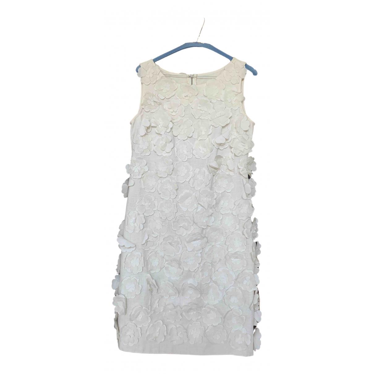 Dolce & Gabbana \N Kleid in  Weiss Leinen
