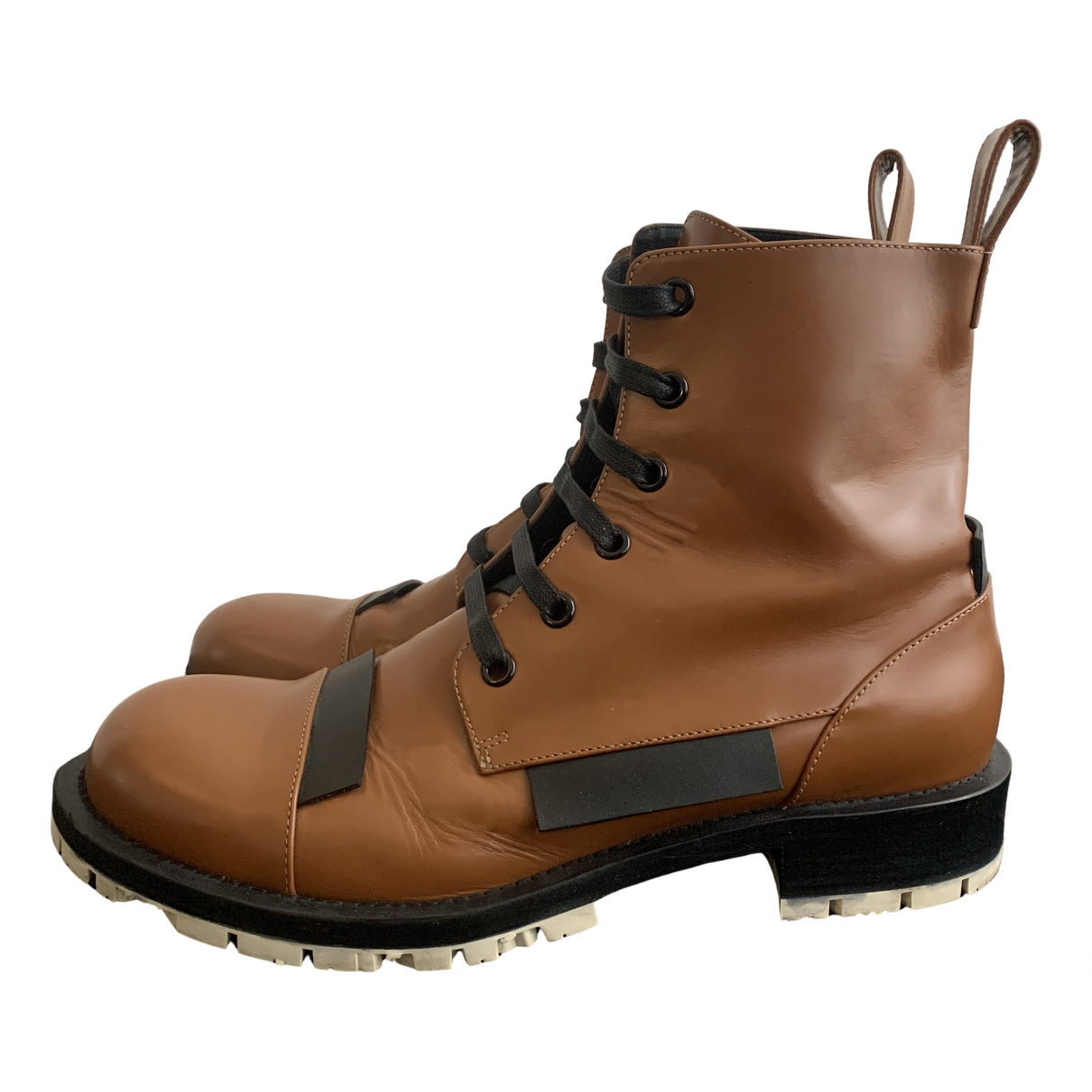 Marni N Brown Leather Boots for Men 44 EU