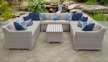 Coast Collection COAST-11a 11-Piece Patio Set 11a with 2 Corner Chair   6 Armless Chair   1 Storage Coffee Table   1 Left Arm Chair   1 Right Arm