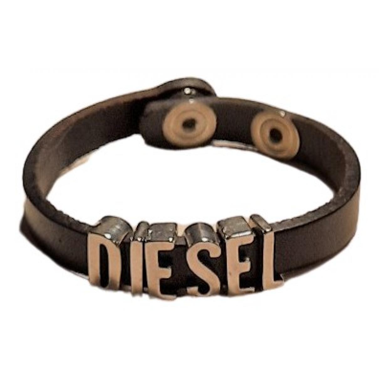 Diesel \N Schmuckstuecke in  Schwarz Leder