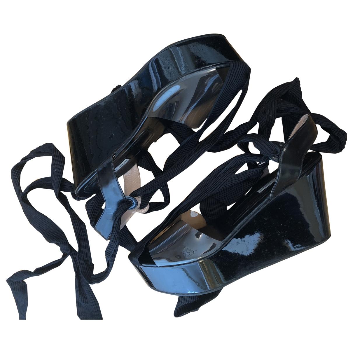 Dries Van Noten \N Sandalen in  Schwarz Kunststoff