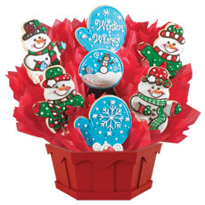 Gourmet Christmas Gifts | Winter Cookie Bouquet