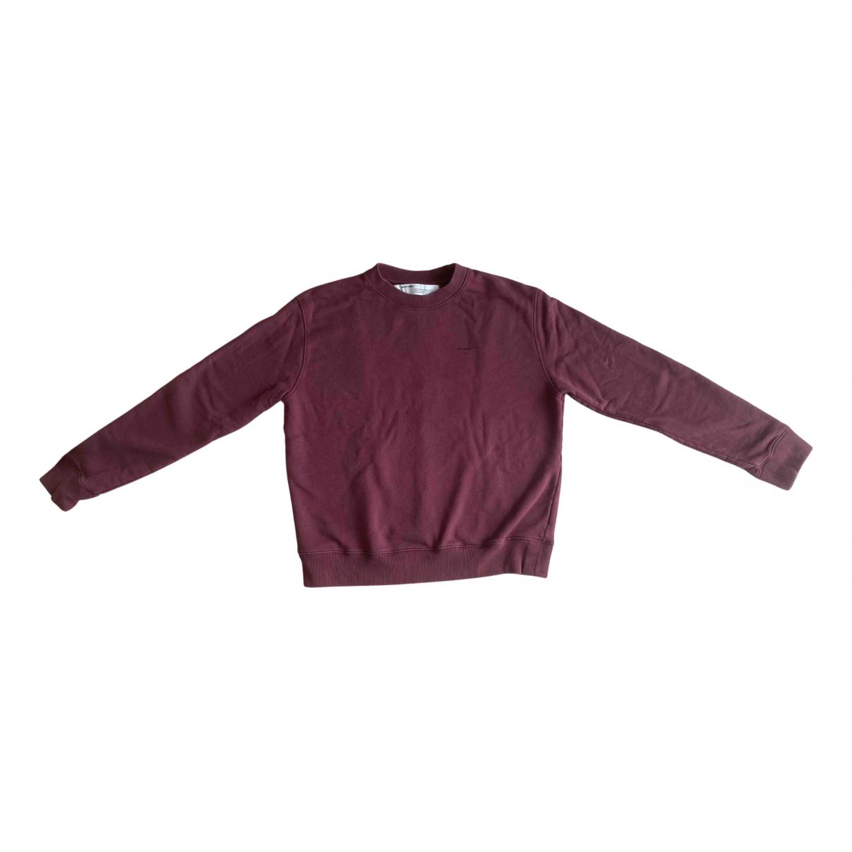 Off-white \N Pullover.Westen.Sweatshirts  in  Bordeauxrot Baumwolle