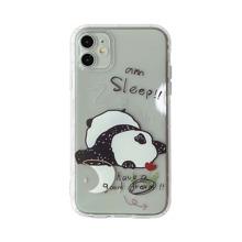 Transparente iPhone Huelle mit Panda Muster