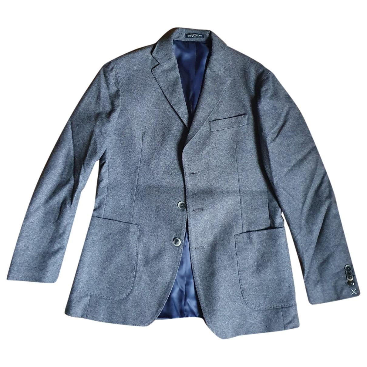 Henry Cotton \N Grey Wool jacket  for Men 46 IT