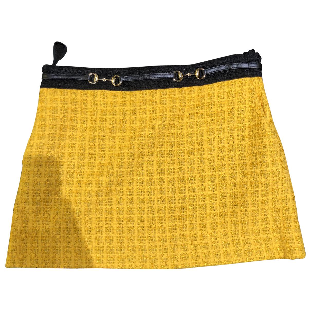 Gucci \N Rocke in  Gelb Tweed