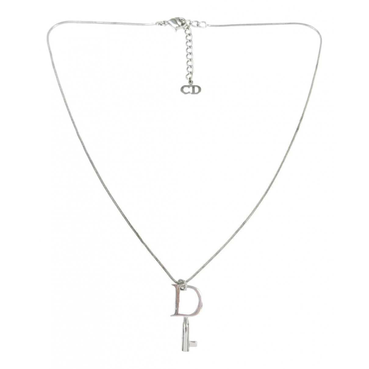 Christian Dior - Collier   pour femme en metal - argente