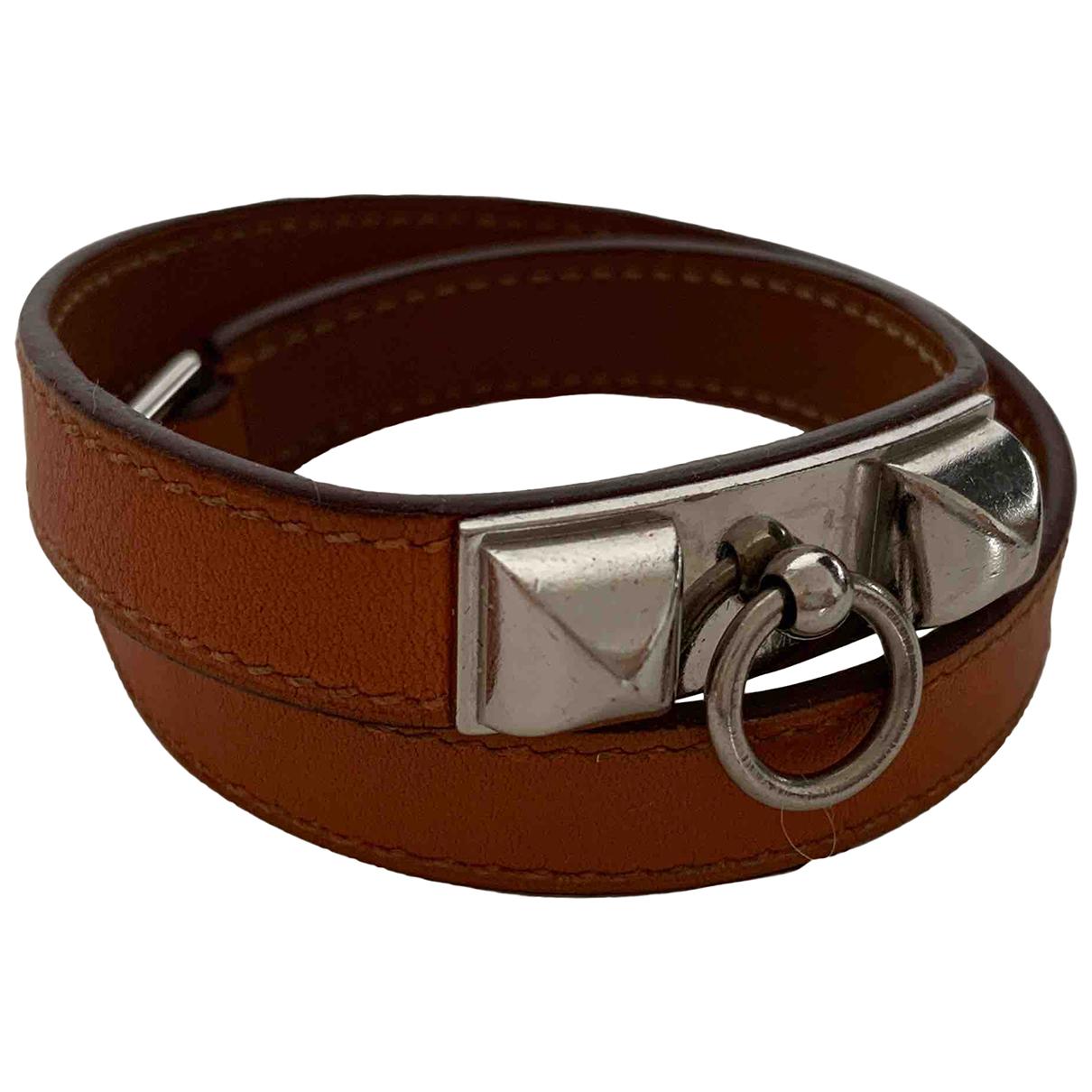 Hermès Rivale Orange Leather bracelet for Women \N