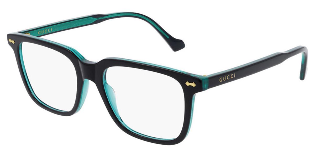 Gucci GG0737O 007 Men's Glasses Black Size 53 - Free Lenses - HSA/FSA Insurance - Blue Light Block Available