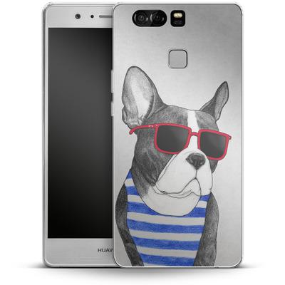 Huawei P9 Silikon Handyhuelle - Frenchie Summer Style von Barruf