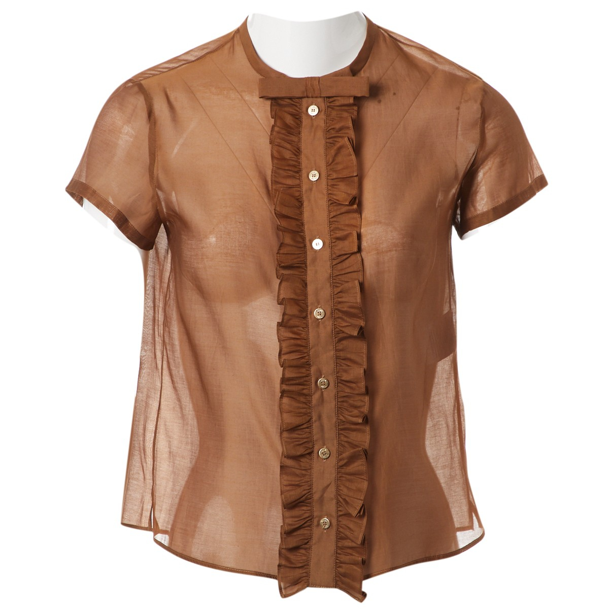 Emilio Pucci \N Brown Cotton  top for Women 38 IT