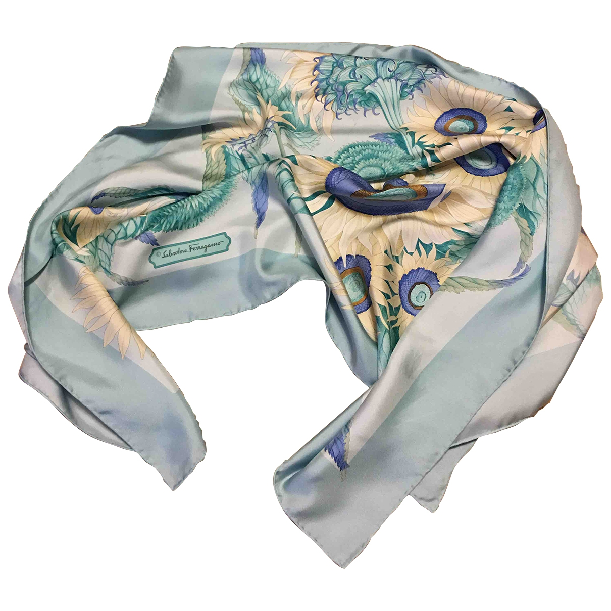 Salvatore Ferragamo \N Multicolour Silk Silk handkerchief for Women \N
