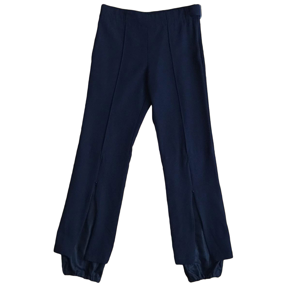 Yohji Yamamoto \N Black Trousers for Women 1 0-5