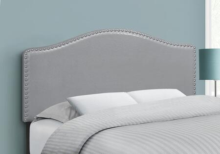 I 6011F Bed - Full Size Grey Leather-Look Headboard