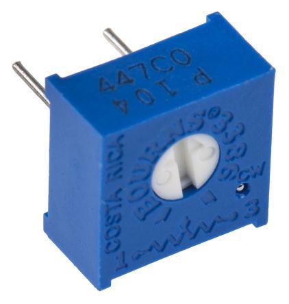Bourns 100kΩ, Through Hole Trimmer Potentiometer 0.5W Top Adjust , 3386 (50)