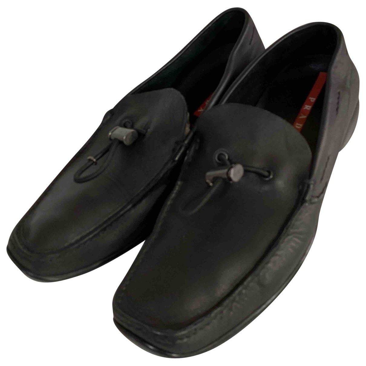 Prada \N Black Leather Flats for Women 10 UK