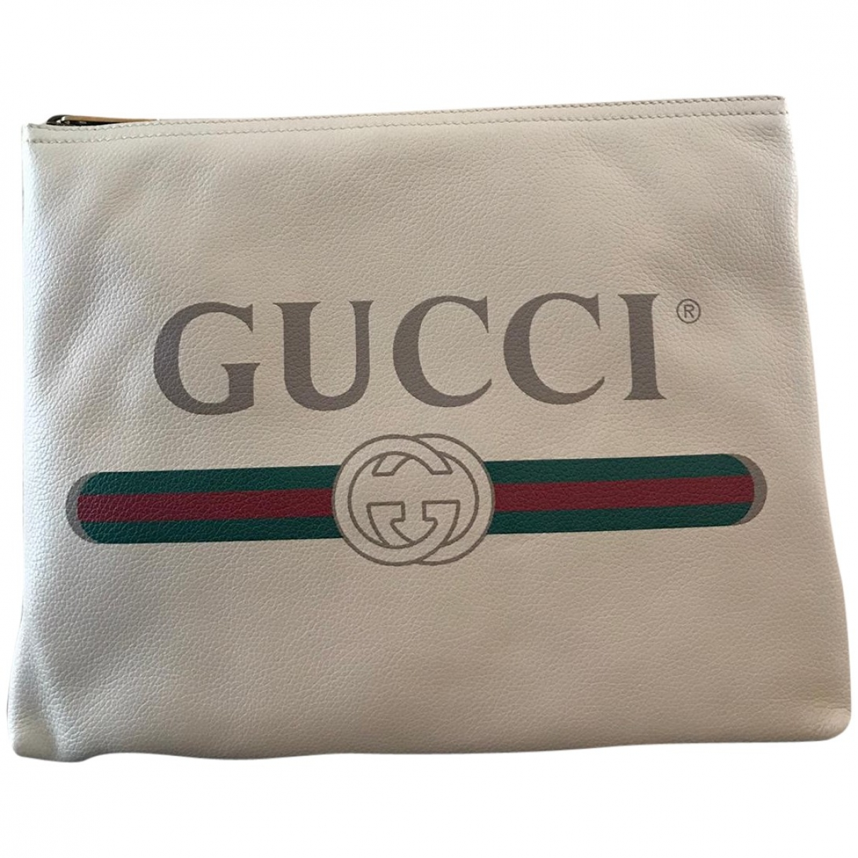 Gucci \N White Leather Clutch bag for Women \N