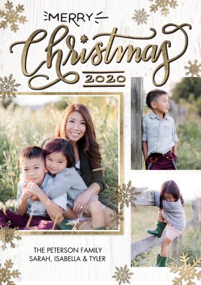 Christmas Photo Cards 5x7 Cards, Premium Cardstock 120lb with Scalloped Corners, Card & Stationery -2020 Christmas Red Frame by Tumbalina
