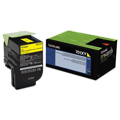 Lexmark 701XY 70C1XY0 cartouche de toner du programme retour originale jaune extra haute capacite