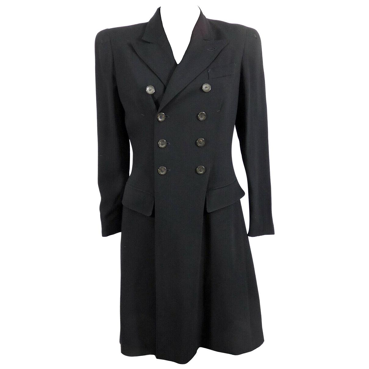 Jean Paul Gaultier - Manteau   pour femme en laine - anthracite