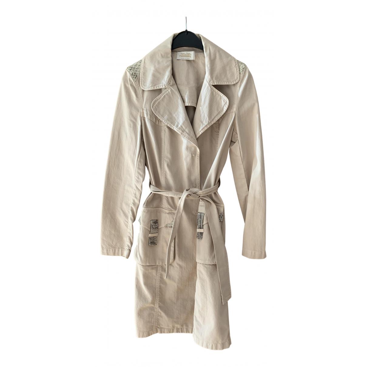 Thes & Thes - Manteau   pour femme en coton - beige