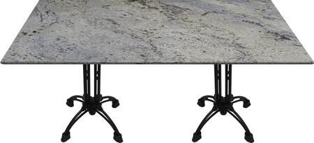 G208 30X42-CA18-27H 30x42 Kashmir White Granite Tabletop with 20