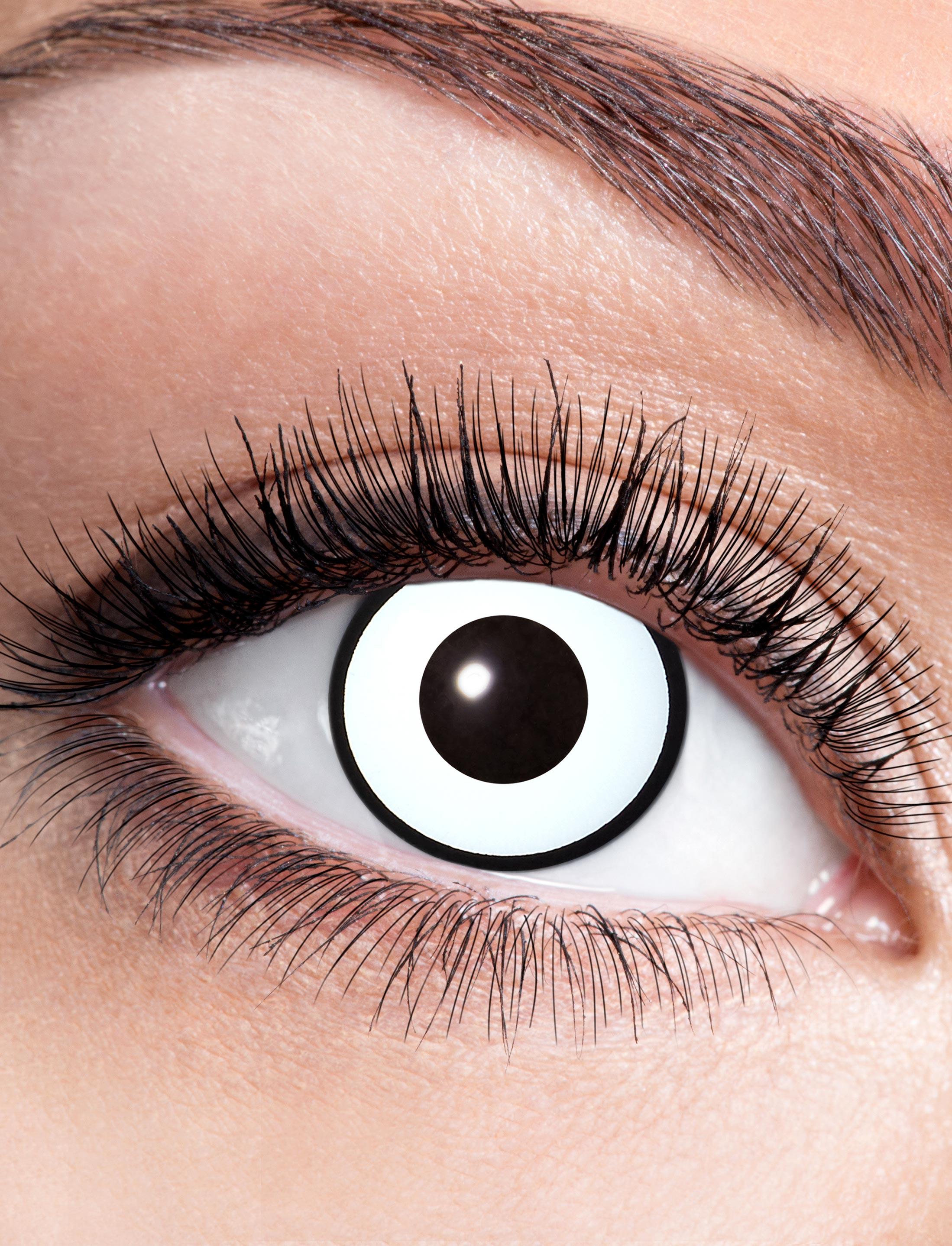 Kostuemzubehor Kontaktlinsen White Manson Farbe: weiss