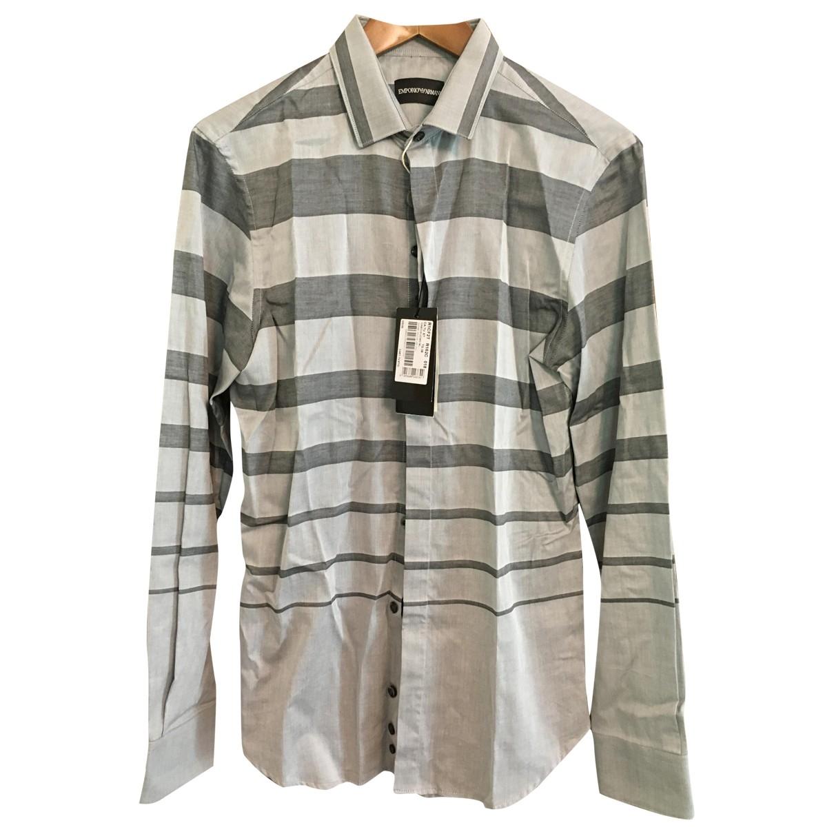 Emporio Armani \N Hemden in  Grau Baumwolle