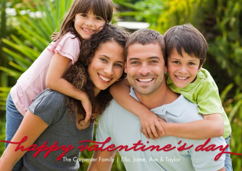 Valentine's Cards 5x7 Cards, Premium Cardstock 120lb, Card & Stationery -Valentine Overlay