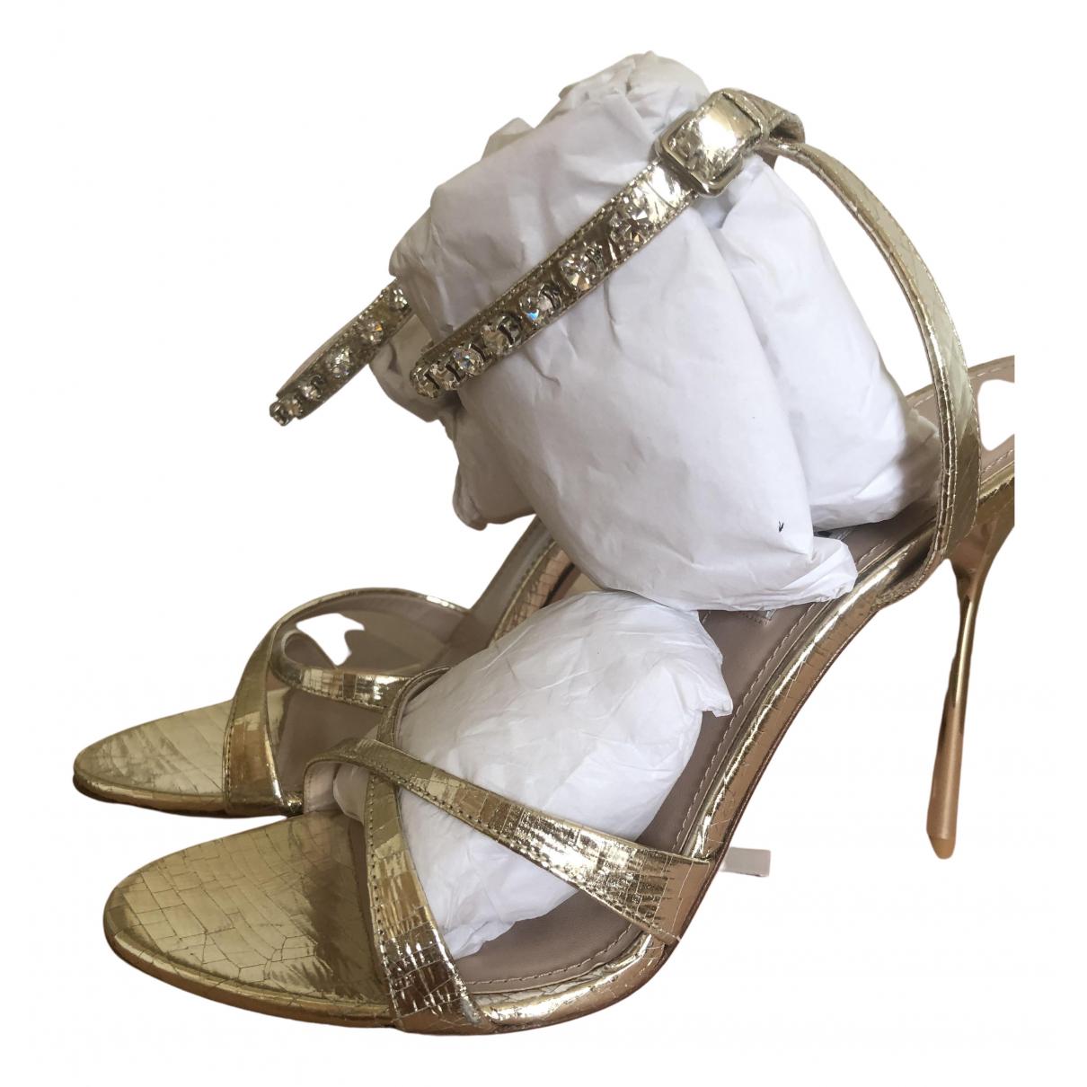 Miu Miu \N Sandalen in  Gold Leder
