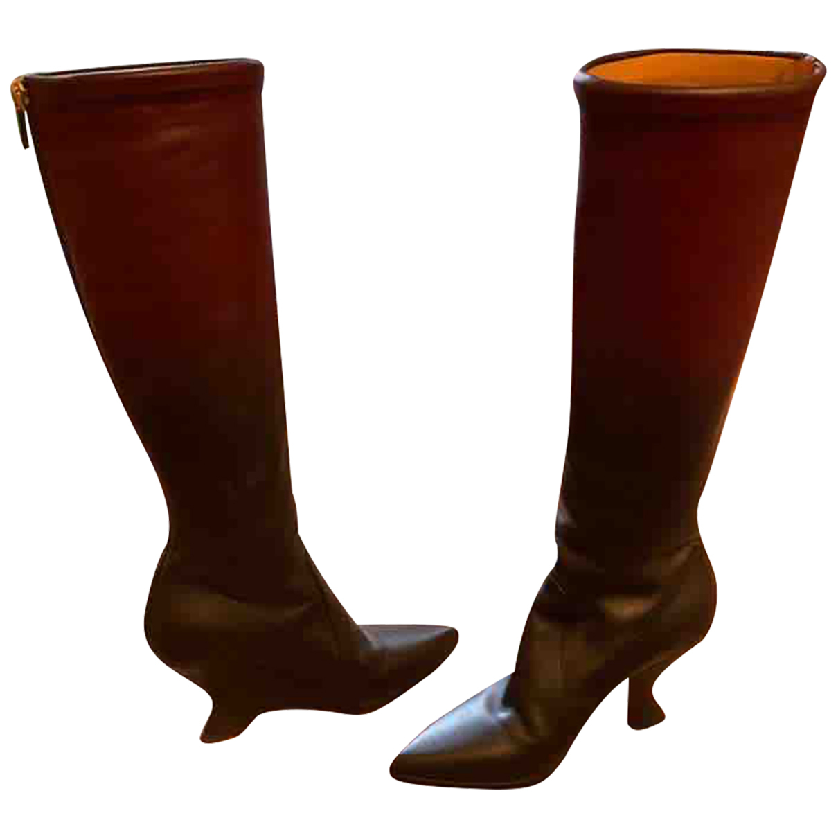 Dior Roadior Brown Leather Boots for Women 36 EU
