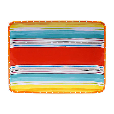 Certified International Mariachi Rectangular Platter, One Size , No Color Family