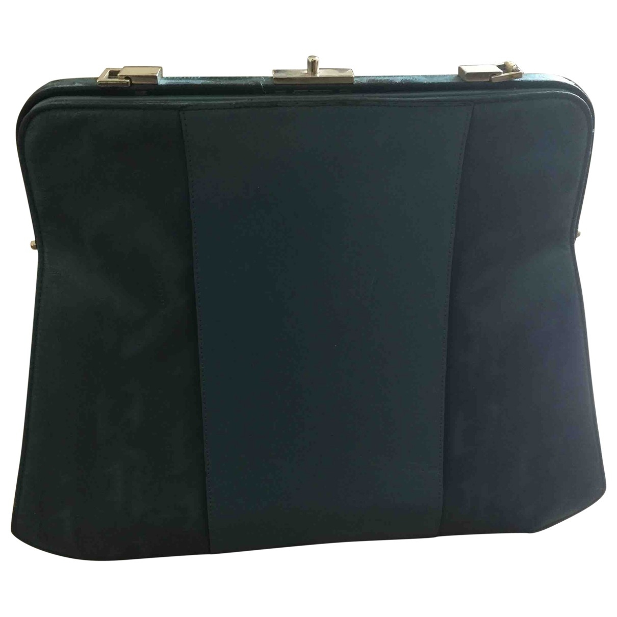 A. Testoni \N Blue Cloth handbag for Women \N