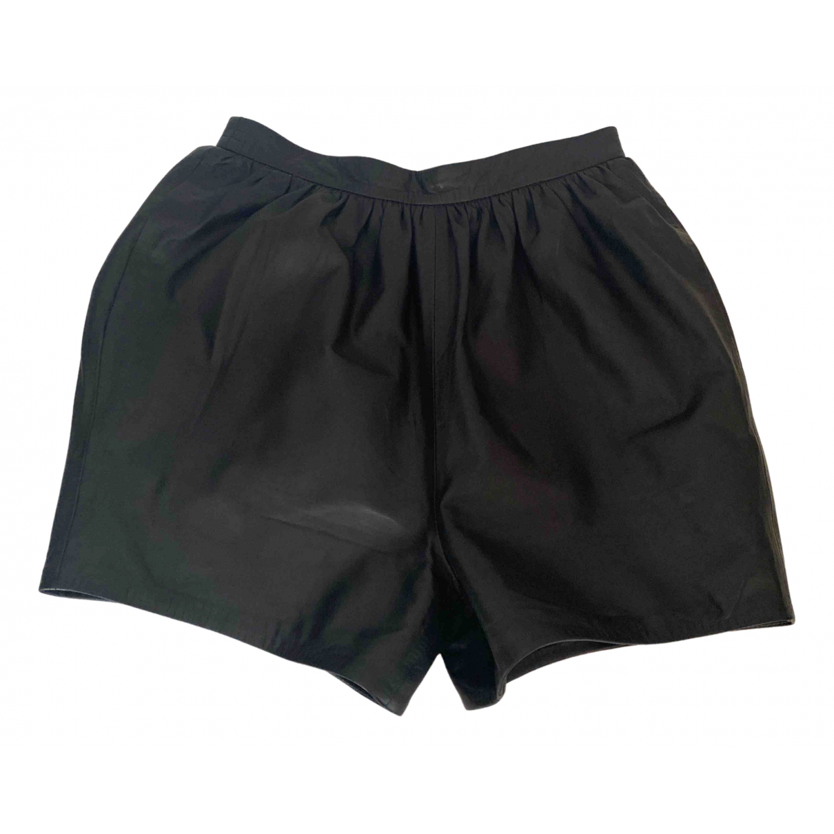 Dsquared2 \N Black Leather Shorts for Women 42 IT