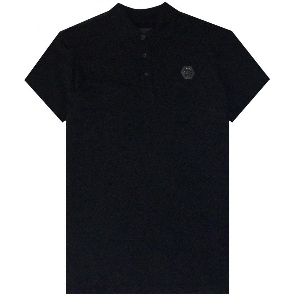 Philipp Plein Logo Polo Colour: BLACK, Size: EXTRA EXTRA LARGE